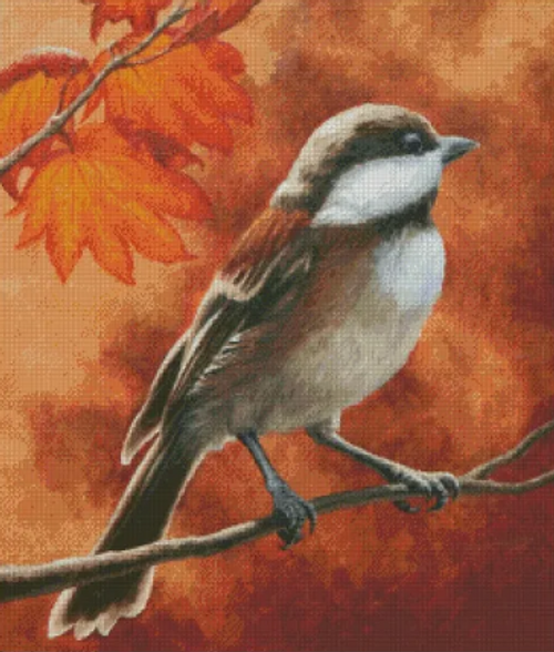 Autumn Chickadee - Shinysun's Cross Stitch Pattern