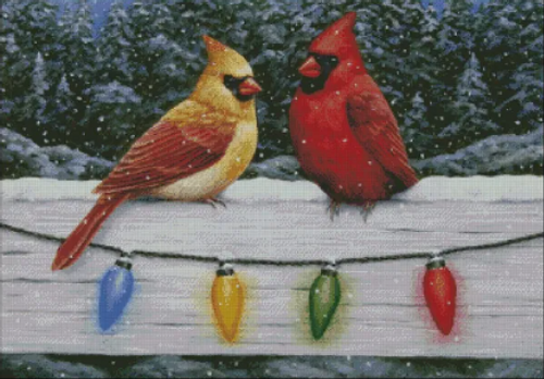 Christmas Cardinals - Shinysun's Counted Cross Stitch Pattern