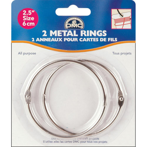 """DMC Metal Rings 2.5"""""""