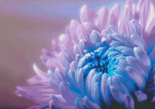 Chrysanthemum Counted Cross Stitch Pattern