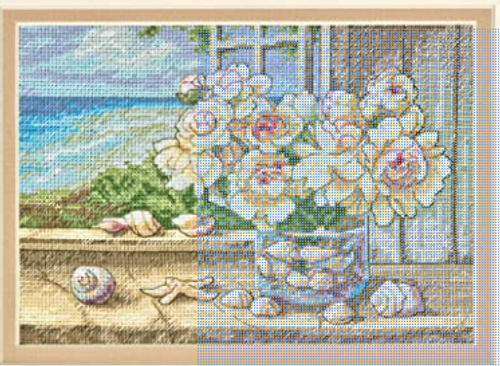 By the Sea - Dimensions The Gold Collection Petites Counted Cross Stitch Kit