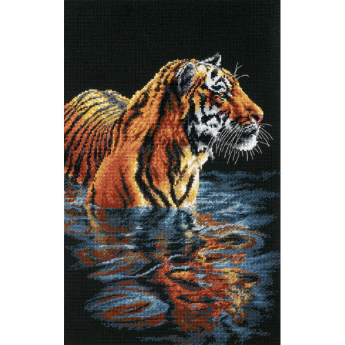 Tiger Chilling Out Dimensions Counted Cross Stitch Kit