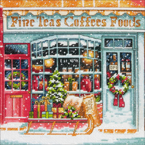 Coffee Shoppe  Dimensions The Gold Collection Petites Counted Cross Stitch Kit