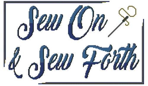 Sew On & Sew Forth Counted Cross Stitch Pattern - PDF Download