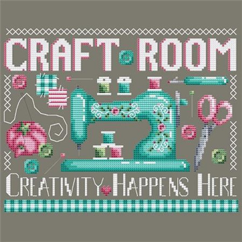Craft Room Counted Cross Stitch Pattern