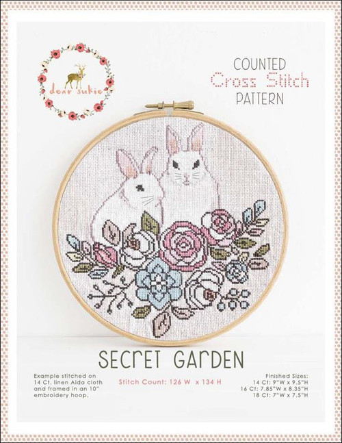 Secret Garden Counted Cross Stitch Pattern