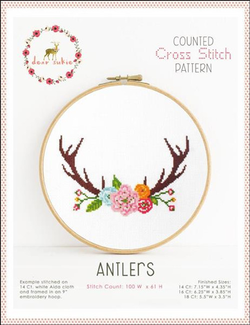 Antlers Counted Cross Stitch Pattern