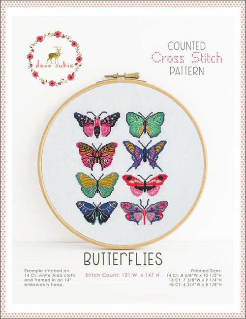 Butterflies Counted Cross Stitch Pattern