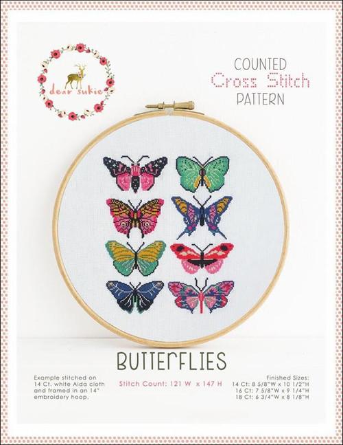 Butterflies Counted Cross Stitch Pattern