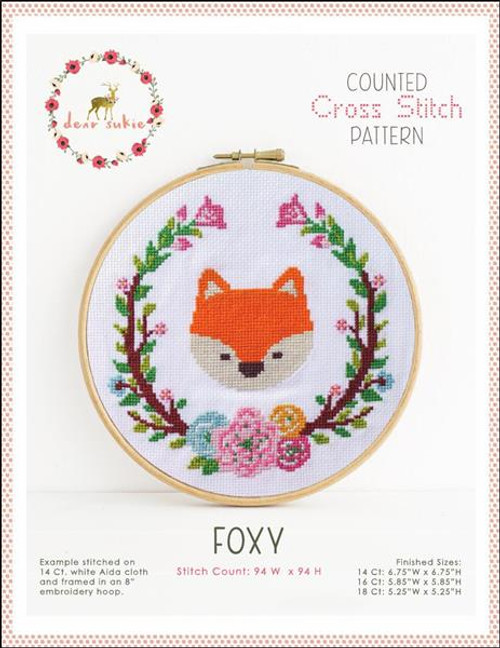 Foxy Counted Cross Stitch Pattern