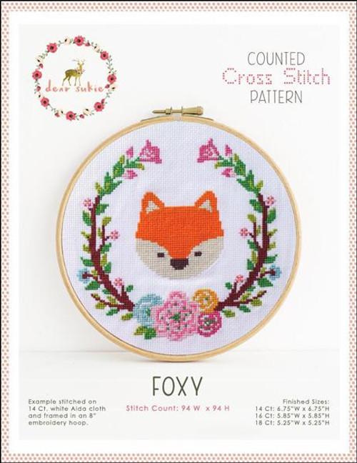 Foxy Counted Cross Stitch Pattern
