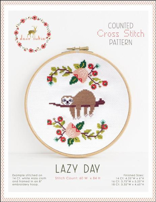 Lazy Day Counted Cross Stitch Pattern