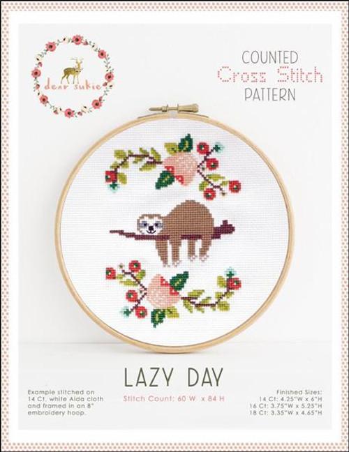 Lazy Day Counted Cross Stitch Pattern