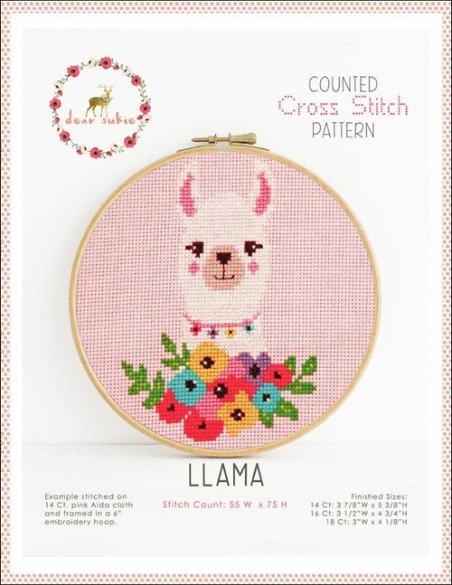 Llama Counted Cross Stitch Pattern