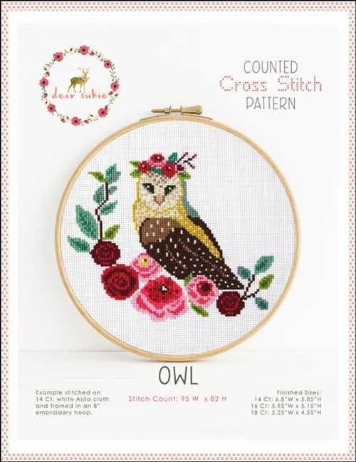 Owl Counted Cross Stitch Pattern