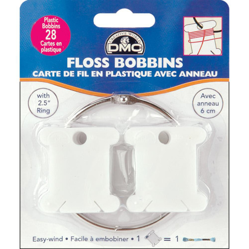 DMC Floss Bobbins with Ring