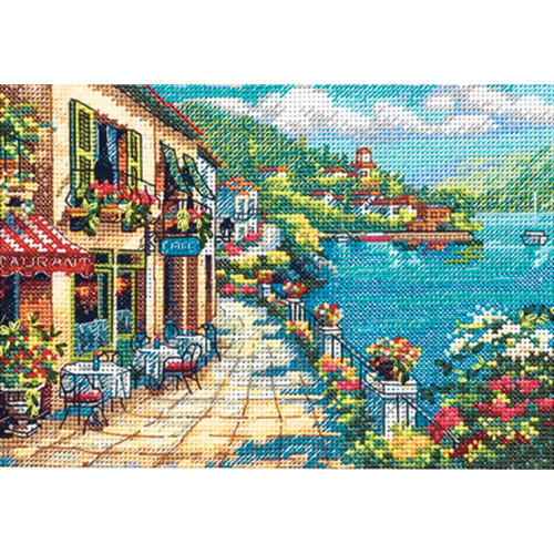 Overlook Cafe Dimensions The Gold Collection Petites Counted Cross Stitch Kit