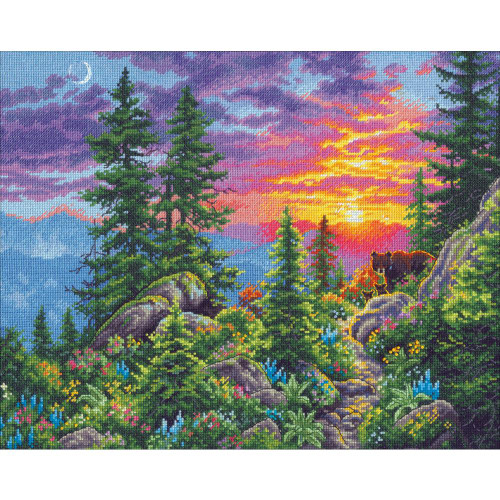 Sunset Mountain Trail Dimensions The Gold Collection Counted Cross Stitch Kit