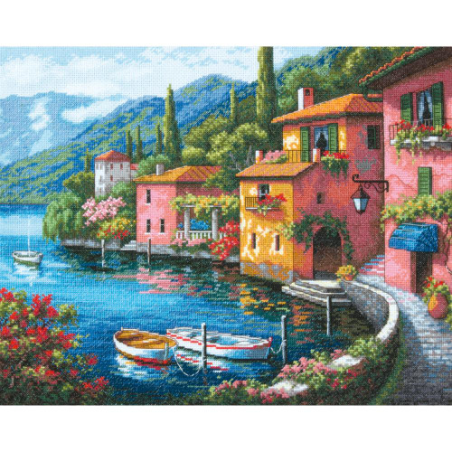 Lakeside Village Dimensions The Gold Collection Counted Cross Stitch Kit