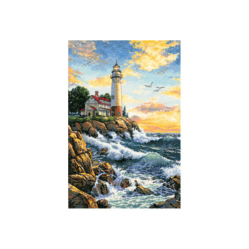 Rocky Point Dimensions The Gold Collection Counted Cross Stitch Kit