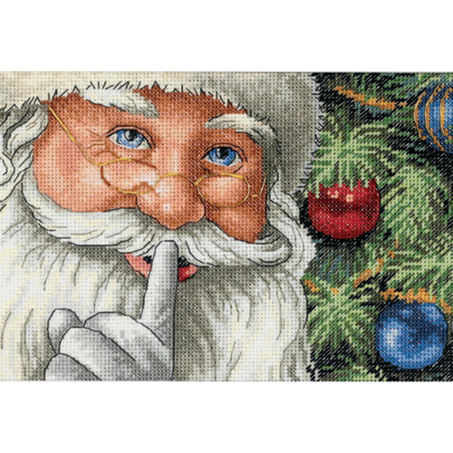 Santa's Secret Dimensions The Gold Collection Petites Counted Cross Stitch Kit