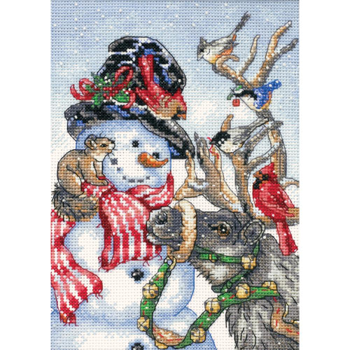 Snowman & Reindeer Dimensions The Gold Collection Petites Counted Cross Stitch