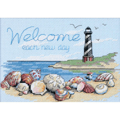 Welcome Each New Day Dimensions Mini Counted Cross Stitch Kit