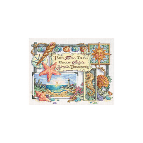 Simple Treasures Dimensions Counted Cross Stitch Kit