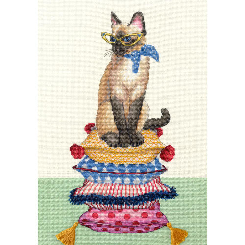 Cat Lady Dimensions Counted Cross Stitch Kit