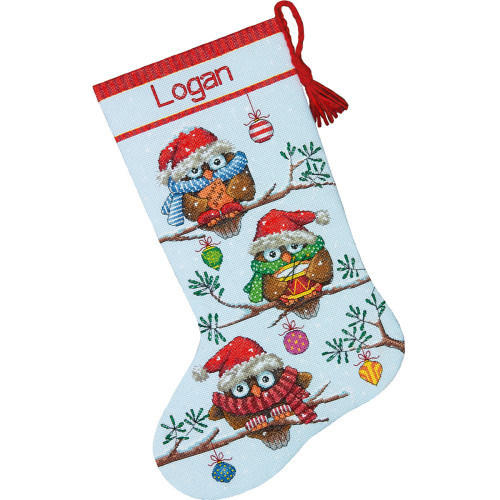 Holiday Hooties Stocking Dimensions Counted Cross Stitch Kit