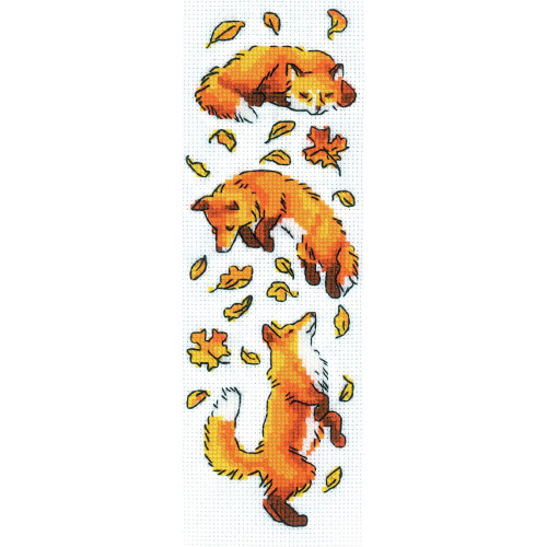 Foxes in the Leaves Riolis Counted Cross Stitch Kit