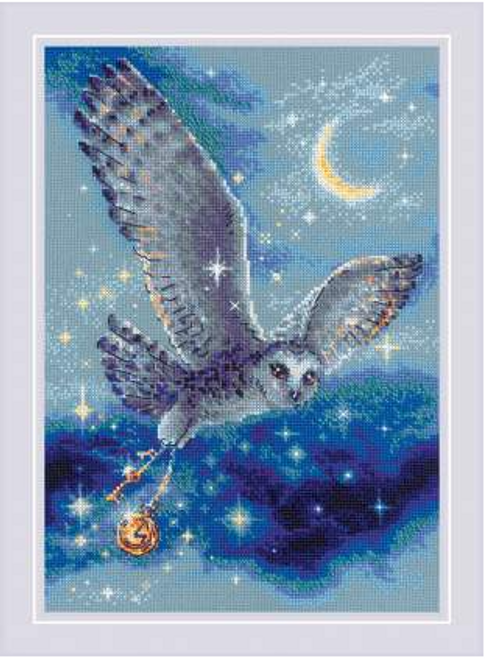 Magic Owl Riolis Counted Cross Stitch Kit
