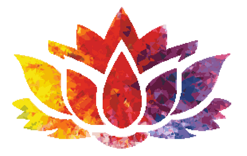 Colorful Lotus Flower Counted Cross Stitch Pattern
