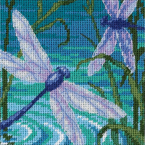 Dragonfly Pair Dimensions Mini Needlepoint Kit