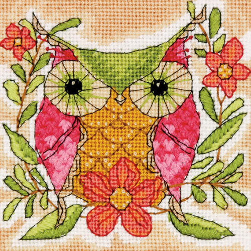 Whimsical Owl Dimensions Mini Needlepoint Kit