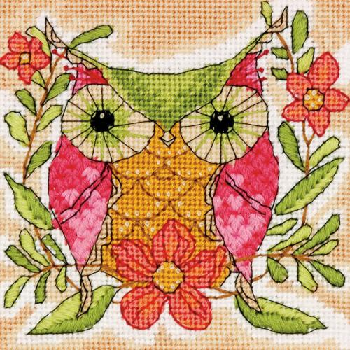 Whimsical Owl Dimensions Mini Needlepoint Kit