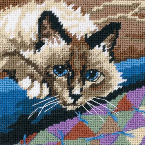 Cuddly Cat Dimensions Mini Needlepoint Kit