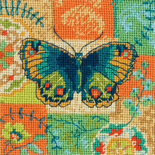 Butterfly Pattern Dimensions Mini Needlepoint Kit
