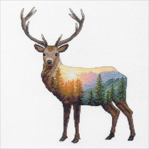 Deer Scene Dimensions Counted Cross Stitch Kit