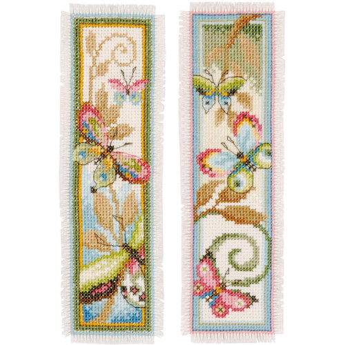 Deco Butterflies Vervaco Bookmarks Counted Cross Stitch Kit