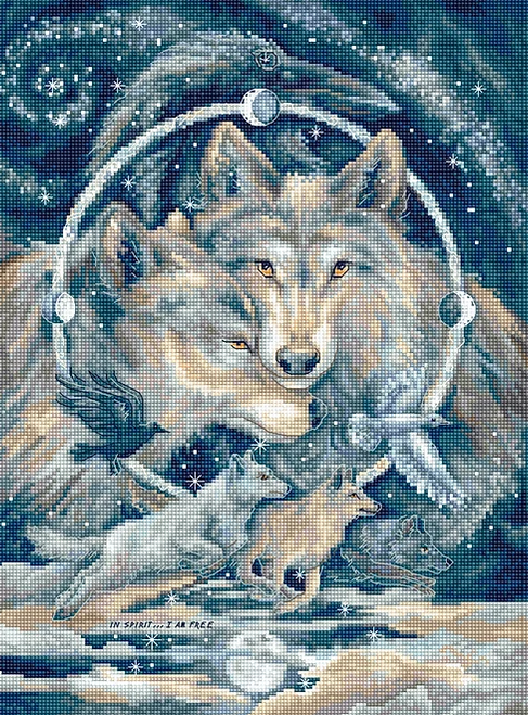 In Spirit...I am Free Letistitch Counted Cross Stitch Kit