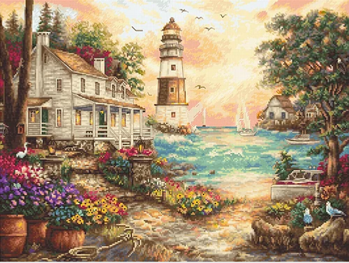 Cottage By the Sea Letistitch Counted Cross Stitch Kit
