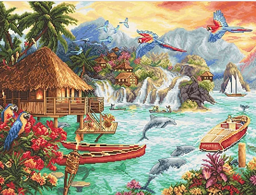 Island Life Letistitch Counted Cross Stitch Kit