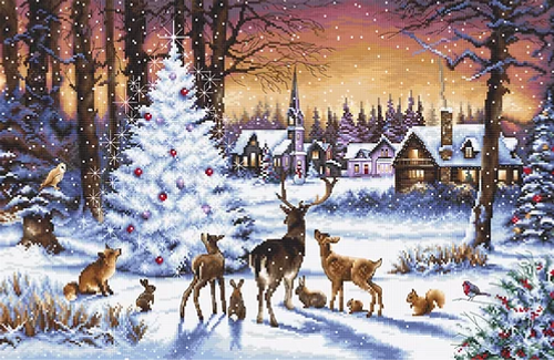 Christmas Wood Letistitch Counted Cross Stitch Kit
