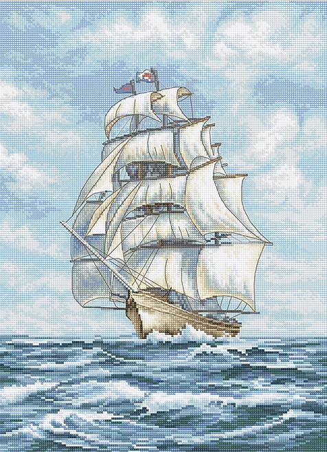 Ship Letistitch Counted Cross Stitch Kit