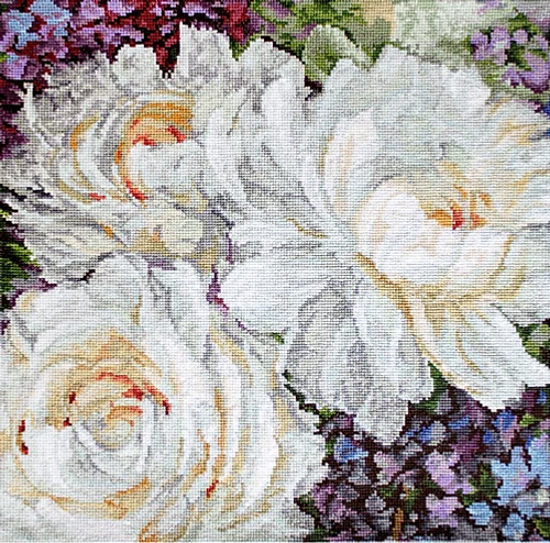 White Roses Letistitch Counted Cross Stitch Kit