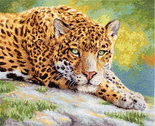 Peaceful Jaguar Letistitch Counted Cross Stitch Kit