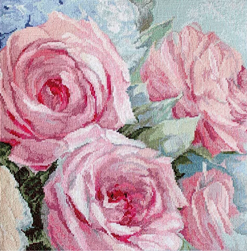 Pale Pink Roses Letitstitch Counted Cross Stitch Kit