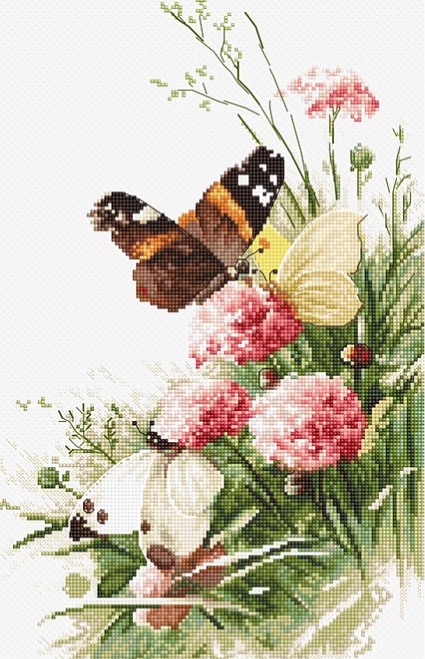Butterflies in the Field Letistitch Counted Cross Stitch Kit