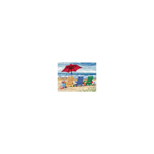 Beach Chair Trio Dimensions Needlepoint Kit